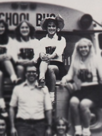 Sandra Bullock high school German Club yearbook photo
