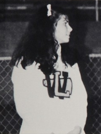 Sandra Bullock high school cheerleading candid photo