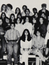 Sandra Bullock Effinar Studios Hair high school yearbook photo