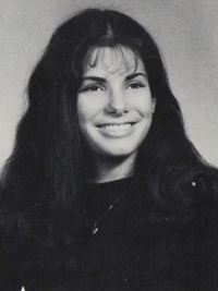 Sandra Bullock high school Thespian Honor Society yearbook photo