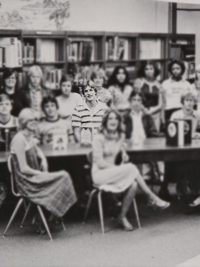 Woody Harrelson hanging out halls of his high school