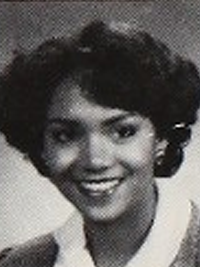 Halle Berry in the 1983 Bedford High School yearbook