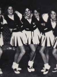 Sandra Bullock high school cheerleading group photo
